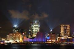 Night scene of Hong Kong Royalty Free Stock Images