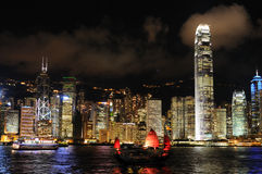 Night scene of Hong Kong cityscape Royalty Free Stock Images