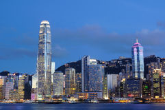 Night scene of Hong Kong cityscape Stock Photo