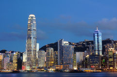 Night scene of Hong Kong cityscape Stock Photography