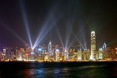 Night Scene of Hong Kong metropolis Royalty Free Stock Image