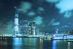 Night Scene of Hong Kong metropolis Stock Image