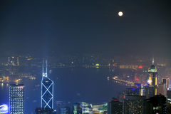 Night scene of Hongkong Royalty Free Stock Image