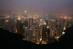 Night scene of HongKong Royalty Free Stock Image