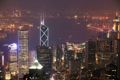 Night scene of HongKong Stock Image