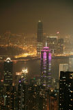 Night scene of HongKong Royalty Free Stock Photos