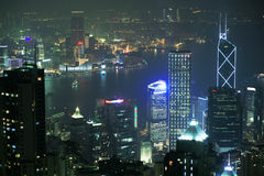 Night scene of HongKong Royalty Free Stock Photo
