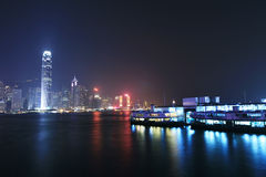 Night scene of Hongkong Royalty Free Stock Photography