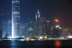 Night scene of Hongkong Stock Photography