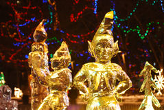Night scene of ice sculpture Royalty Free Stock Images