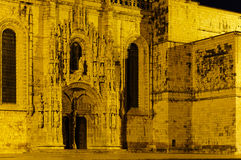 Night Scene of the Jeronimos Church Royalty Free Stock Images