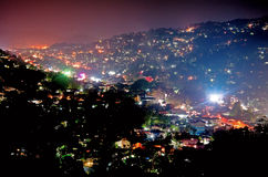 The night scene of Kandy in Sri Lanka Royalty Free Stock Photo