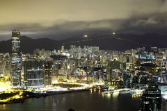 Night scene of the Kowloon - Hong Kong Royalty Free Stock Images
