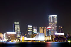 Night scene of the Kowloon - Hong Kong Royalty Free Stock Photography