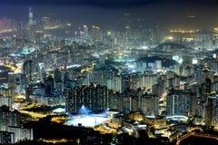 Night scene of the Kowloon - Hong Kong Royalty Free Stock Image
