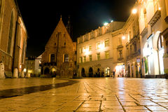 Night scene in Krakow Stock Images