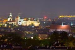 Night scene in Krakow Stock Photos