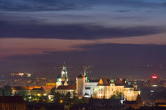 Night scene in Krakow Stock Photography