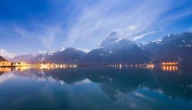 Free Night Scene.  Lake Uri Stock Photos - 165439533