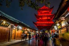 The night scene of Langzhong City stock photo