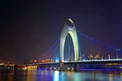 Night scene of Liede bridge Royalty Free Stock Image