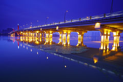 Night scene of Lihu Bridge Stock Photography