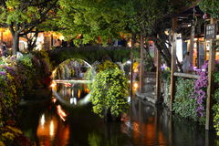 The night scene of Lijiang Dayan old town Royalty Free Stock Images