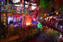 The night scene of Lijiang Dayan old town Royalty Free Stock Image