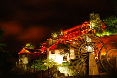 Night scene of Lijiang. Old and traditional building of south of China, yunnan province Stock Images