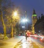 Night scene in London city, United Kingdom. Big Ben in background Royalty Free Stock Photo