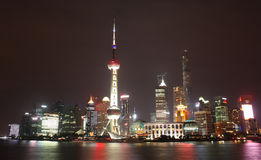 Night scene of Lujiazui Royalty Free Stock Photo