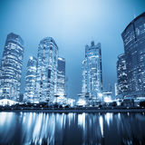 Night scene of the lujiazui financial centre Royalty Free Stock Images