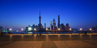 The night scene of lujiazui,shanghai,china Stock Images