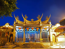 Night Scene of Mazu Temple in Penghu Royalty Free Stock Photography