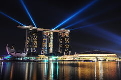 Night Scene of MBS Royalty Free Stock Image