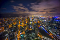 Night scene at Melbourne Royalty Free Stock Image