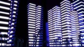 Scene of the night Metropolis. Night scene of the night Metropolis Stock Images