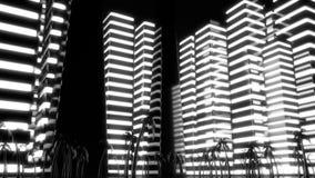 Scene of the night Metropolis. Night scene of the night Metropolis Stock Photography
