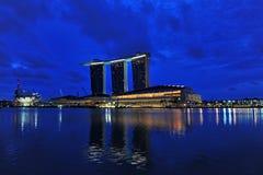 Night scene of modern building Stock Image