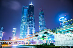 Night scene of modern city Royalty Free Stock Image