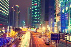 Night scene of modern city Stock Image