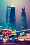 Night scene of modern city Stock Image