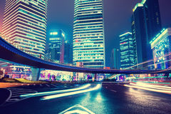 Night scene of modern city Royalty Free Stock Photos