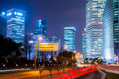 Night scene of modern city Stock Images