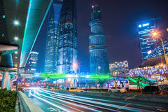 Night scene of modern city Royalty Free Stock Images