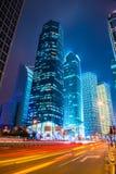 Night scene of modern city Stock Photos