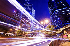 Night scene of modern city Stock Photography