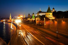 Night scene of Moscow Royalty Free Stock Photo