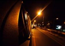 Night scene motion blurred low lighting street Royalty Free Stock Photography