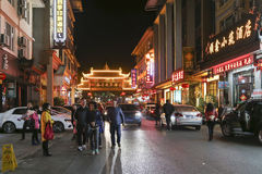 Night scene in mount emei,china Stock Photo